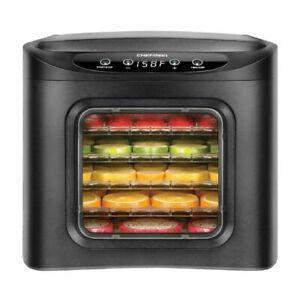 Chefman RJ43-SQ-6T 6-Tray Digital Touch Display BPA Free Food Dehydrator - Black