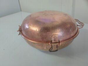Portuguese Cataplana Copper 3 lt capacity.