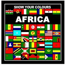 SHOW YOUR COLOURS AFRICAN NATIONS BANDANA/HEAD SCARF/HANDKERCHEIF/HEAD WRAP/FLAG