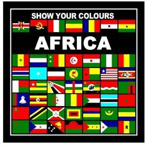 SHOW YOUR COLOURS AFRICAN NATIONS BANDANA/HEAD SCARF/HANDKERCHEIF/HEAD WRAP/FLAG
