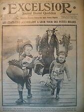 WW1 N° 2264 NEW-YORK ARRIVéE ENFANTS BELGES ACCUEIL ET ADOPTION EXCELSIOR 1917