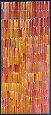 Jeannie Mills Pwerle, Authentic Aboriginal Art.  Size 105cm x 45cm, 'Bush Yam',