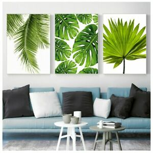 Tropical Green Palm Leaves Plant Print Nordic Canvas Posters Wall Art Home Decor