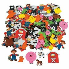 500 Assorted Barnyard Farm Shapes Foam Self Adhesive Craft Stickers New