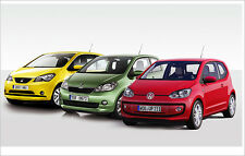 VW UP! / Skoda Citigo / Seat Mii (2 Door car) Sill Protectors / Kick Plates