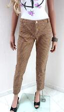 Guess By Marciano Jeans Femmes w30 DT. 36 38 S Slim Fit Pantalon Marron Gold