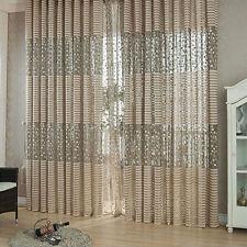 Jacquard Warp Knitting Curtains For Window Living Room Sun-shading Curtain