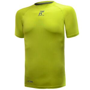 RunFlyte Men's Contour Stitch Short Sleeve T-Shirt Athletic Running Dry f1003