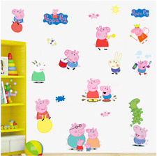 Large PEPPA PIG Wall Stickers Kids Bedroom Nursery Decor Art UK 878