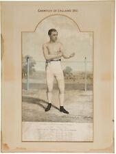 JEM MACE 19TH CENTURY BOXING CHAMPION LITHOGRAPH 1861