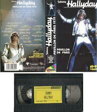 JOHNNY HALLYDAY K7 VIDEO PROSERPINE 621 VHS SECAM PAVILLON DE PARIS 1979