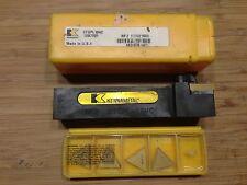 """KENNAMETAL KENDEX TOOL HOLDER  CTGPL-164C 1"""" SQ SH 5"""" OAL LH+ 5 INSERTS NEW"""