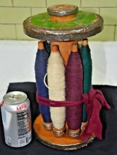 ANTIQUE WOODEN YARN SPOOL: LARGE: GREAT DISPLAY VALUE & APPEALING PATINA (024)