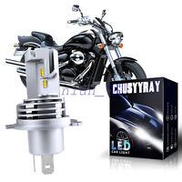 2x H4 HS1 LED Motorrad Scheinwerfer Birne Fernlicht/Abblendlicht 6000K Lampe