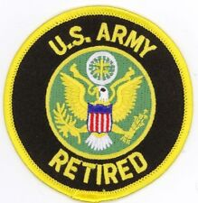 """Lot of 2 US ARMY RETIRED Embroidered Patches 3"""" Diameter ARNG Veteran"""