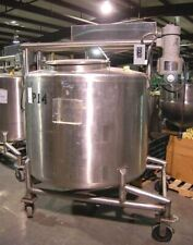 500 Gallon Stainless steel Mix Tanks with Dish bottom from Food Plant