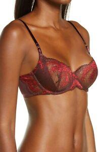 NATORI Frenzy Lace Underwire Balconette Bra #726231 34D NEW $80