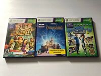 Lot Of 3 Xbox 360 (SPANISH) Kinect Games Kinect Disneyland Sports Adventures