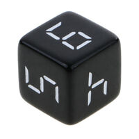 10Pc D6 Dice Six Sided Die Black with White Numbers for Kids Math Learn 16mm