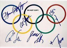 OLYMPIC GREATS 8X10 AUTHENTIC IN PERSON SIGNED AUTOGRAPH REPRINT PHOTO RP
