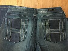 WOMEN CITIZENS OF HUMANITY Designer Low Rise Boot Cut Cotton Jeans Size 27
