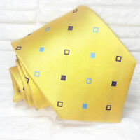 Cravatta gialla business Nuova 100% seta Top quality Made in Italy Morgana