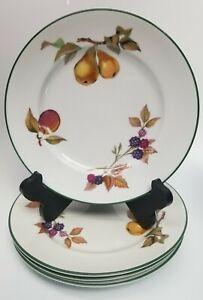 """Set of 4 - Royal Worcester EVESHAM VALE Salad Plate 8-1/4"""" Green Trim SET #1"""