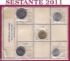 ITALY ITALIA, Mini Serie Divisionale Sigillata FDC 1977, 5 monete senza 200 lire