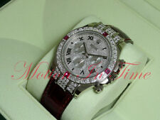 Rolex Cosmograph Daytona White Gold Diamond & Ruby Baguette 1165994RU Special Ed