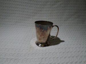 Antique Silver Plate Half Pint Tankard Cup