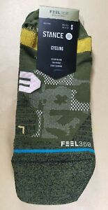 Stance Tab Cycling Socks, (Caught Up), Infiknit Feel 360, Sml (3 - 5.5)