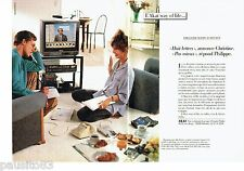 PUBLICITE ADVERTISING 126  1986   Akai  (2pages)  magnétoscope VHS hi-fi
