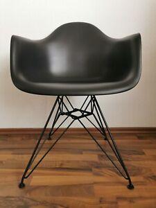 Eames Plastic Arm Chair DAR Stuhl Vitra Schwarz - Tiefschwarz ORGINAL