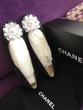Brand New Chanel Flats 37.5 Black And White