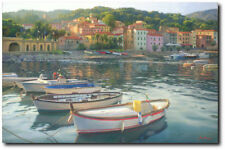 Rio Marina by June Carey Limited Edition Fine Art Giclee Canvas Elba, Italy
