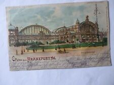 Ansichtskarte Frankfurt a. M. 1899 Hauptbahnhof (Meteor D.R.G.M. 88690)