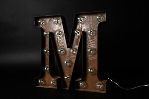 Industrial Carnival Alphabet Light - Letter 'M'