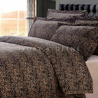 LEOPARD VELVET FUR KING Size Doona Duvet Quilt Cover Animal Print Bedding Set