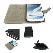 NEW WALLET CASE COVER STAND MAGNETIC PU LEATHER BLACK SAMSUNG GALAXY NOTE II 2