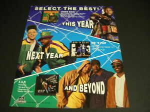 CHUBB ROCK Kid N Play and E.S.P. original Rap 1991 Promo Poster Ad mint cond