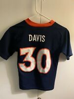 Jersey Youth Boys NFL Denver Broncos Terrell Davis SZ Small (8) Vintage Jersey