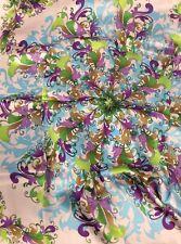 Hardy's Textile 100% Silk 16mm Satin Digital Printed Square Scarf