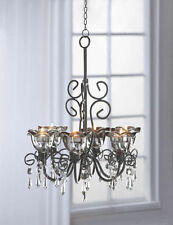 Hanging candle chandeliers for sale ebay iron aloadofball Image collections