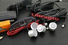 SILVER Car Parking Sensors & Display Reverse Backup Radar System Alert Alarm Kit