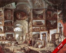 ROMAN ART GALLERY OF ANCIENT WONDERS PAINTING ROME ITALY ART REAL CANVAS PRINT