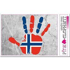 Norvège - main paume Doigt Imprimer étiquette Drapeau DESSIN Norge