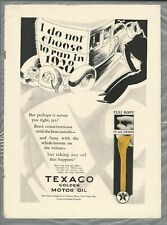 1928 TEXACO OIL advertisement, The Texas Co. Golden Motor Oil
