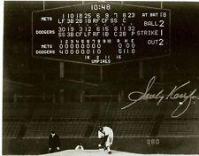 1962 sandy koufax autograph first no hitter photo dodgers mets scoreboard