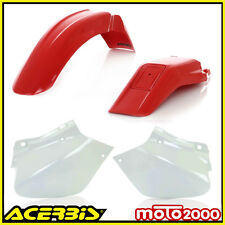 KIT PLASTICHE CARENE CARENATURE ACERBIS ROSSE BIANCHE HONDA XR 250 400 1996 2004