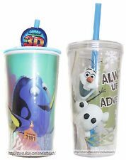 ZAK DESIGNS Disney Character CUP+STRAW Finding Dory+Frozen BPA FREE *YOU CHOOSE*